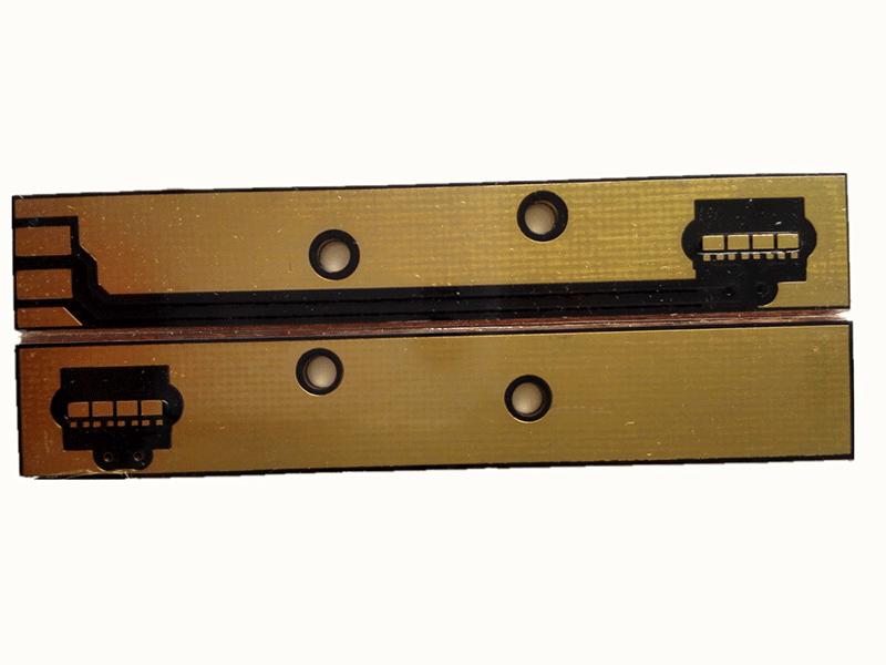 1 8mm convex copper based PCB with black soldermask, ENIG finished